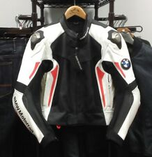 BMW MOTORRAD SPORT LEATHER JACKET WHITE/RED/BLACK SIZE 50 EU / 40 US 76118567529