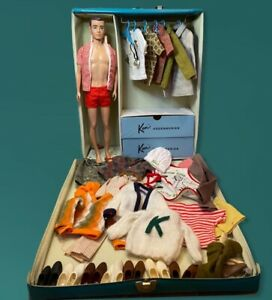Vintage Lot Includes Ken Doll, Case, Labeled Clothing, Doctors Outfit, Shoes Ect