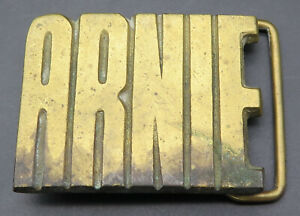 Nick Name Solid Brass Vintage Belt Buckle