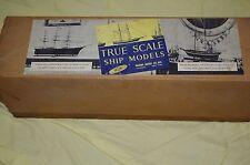 TRUE SCALE SHIP MODELS TUG BOAT #1081 14'' WOODEN MODEL KIT VINTAGE