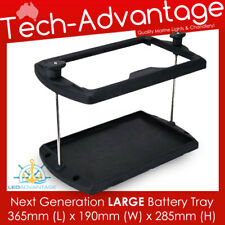 NEW NEXT GENERATION BLACK LARGE BATTERY TRAY HOLDER - BOAT/CARAVAN/MOWER/TRACTOR