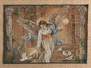 Angel of Light With Doves Single Tapestry Placemat ~ Artist, Lena Liu