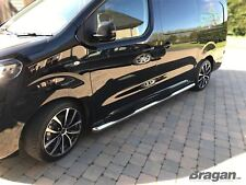 Para montar 2016+ Peugeot Expert viajero LWB Acero Inoxidable Almohadillas de paso lateral barras x4