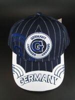 Basecap Baseball Kappe blau hochwertig,Souvenir Germany Deutschland