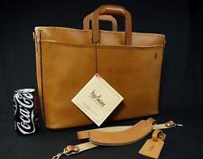 """New Vintage Hartmann 18"""" British Tan Belting Leather Luxury Portfolio Briefcase"""