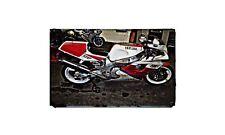 Fzr 750R Motorbike Sign Metal Retro Aged Aluminium Bike