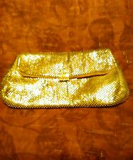 Vintage Beautiful Ladies Whiting And Davis Silver Mesh Clutch Purse Made in USA