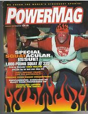 Powermag Powerlifting Weightlifting Strongman Magazine/Chuck Vogelpohl 1-02