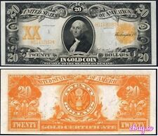 PREPRODUCTION 1922 US $20 dollars Gold Certificate