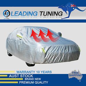 Aluminum Full Car Cover 3x Layers Waterproof Rain UV Dust Resistant Protect 3XL