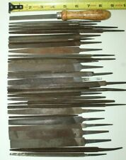 Vintage Lot of 32 Assorted Metal Files Blacksmith Metalworking Filing