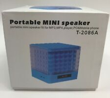 Portable MINI Speaker T-2086A Fit For MP3 MP4 Mobile Phone Blue Free Shipping