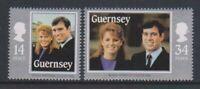 Guernsey - 1986, Royal Wedding set - MNH - SG 369/70
