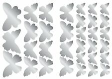 MIRRORED BUTTERFLIES 44 Wall Decals Butterfly Mirror Room Decor Stickers 1198
