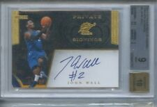JOHN WALL PRIVATE SIGNINGS AUTO 0.5 FROM GEM MINT 2011 12 GOLD STANDARD BGS 9 10