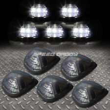 FOR 99-16 FORD SUPERDUTY 5PCS SMOKED WHITE LED CAB ROOF RUNNING LIGHT+HARNESS