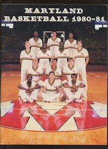 1980-81 NCAA Basketball Maryland Yearbook EXMT