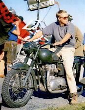 Steve McQueen on Motorcycle 8x10 photo P7967
