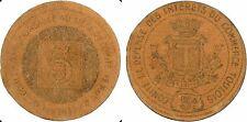 Toul, 5 centimes, Comité Défense Intérêt Comm. toulois, monn. nécessité, SUP-92