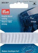 € 2,70 / PRYM m banda elástica fuerte 18mm/ 1m blanco de goma Pantalones 955182