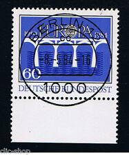 GERMANIA 1 FRANCOBOLLO EUROPA CEPT BLU 1984 timbrato