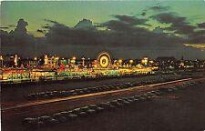 Florida postcard Daytona Beach, Boardwalk night scene