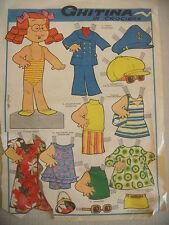 CORRIERE DEI PICCOLI FIGURINE VESTITINI GHITINA IN CROCIERA ANNI '60