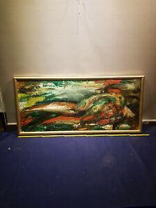 Ölbild, abstrakte Komposition, starke Farben..Erotik  großes Schlafzimmerbild