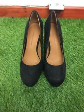 Dorothy Perkins Size 5 Euro 38 Faux Black Suede High Heel Court Shoes