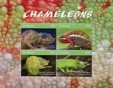 Gambia 2018 MNH Chameleons Pygmy Chameleon 4v M/S Lizards Reptiles Stamps