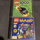 Lot Of 2 Lego Computer Games - Island, Loco (pc Cd-rom) Vgc