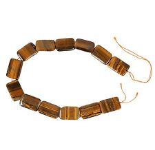 String of Large Rectangular Tiger Eye Beads for Jewellery Making (TIG002S)