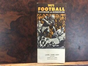 1971 Football Handbook and Schedules- NFL & College