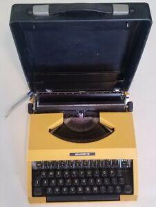 Portable Vintage Silver Seiko Co Reed Silverette Typewriter Yellow