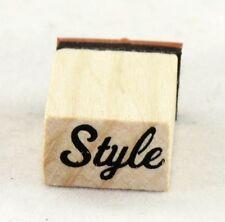 Style Script Wood Mounted Rubber Stamp Inkadinkado NEW art fashion party fun