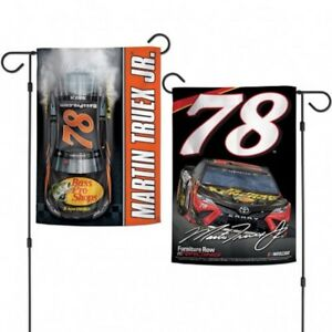 "Martin Truex #78 2-Sided Garden Flag NASCAR Licensed 12.5"" x 18"""