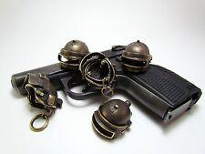 Keyring helmet spetsnaz of the KGB(FSB) ALTYN. Handmade. Brass.