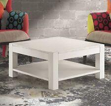 TAVOLINO in Abete Bianco Spazzolato misura 80x80 H. 40 cm. con poggiariviste