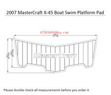 2007 MasterCraft X-45 Boat Swim Platform EVA Faux Teak Decking Pad