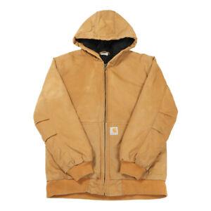 CARHARTT Quilt Lined Active Jacket | Large | Coat Jacket Workwear Hooded Padded