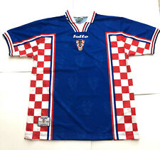 Vintage Lotto Croatia Away 1998 France WC Jersey Men's XL Davor Šuker