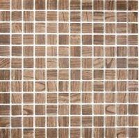 Mosaik Fliese ECO Recycling GLAS ECO Holzstruktur braun |63-409_f|10Matten