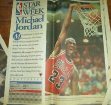 "1997 NBA ""STAR OF THE WEEK"" 14"" Photo's Newspaper JORDAN GRANT RICE LOT"