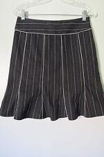 Nanette Lepore Black Striped Stitched Knee-Length A-Line Skirt SIZE:2