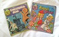 RARE Peter Pan Records Lot of 2, 45 RPM EP, The Gingertread Man,Hansel & Gretel
