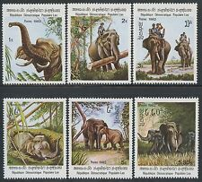 LAOS N°376/381** ELEPHANTS TB, 1982  SC#355-360 MNH