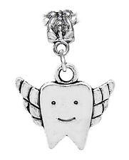 Winged Tooth Fairy Dentist Dental Hygienist Dangle Charm for European Bracelets