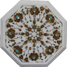 "12""x12"" Marble Inlay Coffee Table Top Beautiful Design"