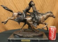 The Wounded Bunkie, Finest US Lost Wax bronze sculpture by F. Remington ~ Large