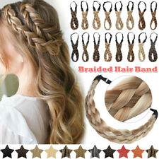Real as Human Hair Band Thick Plaited Chunky Braided Headband Natural Extensions
